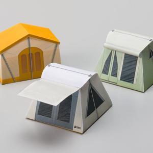 テントのペーパークラフト第3弾。〜四角いテント〜