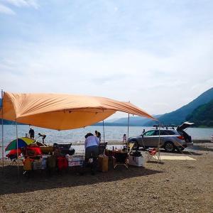 キャンプレポ。週末はカヤックの進水式をしてきました。