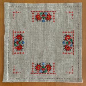 刺繍教室でブルガリア刺繍