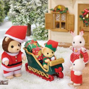 シルバニア新商品・ライオンサンタのクリスマスセット