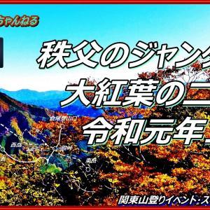 [鎖場上級コース動画あり]大紅葉の秩父のジャンダルム 二子山 ―鎖なしの上級コース 関東山登りの会 ガイド同行登山山行