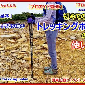 「プロガイド登山動画・登山の基本」「登山入門者の為のトレッキングポールの使い方(歩行技術)の講習を行った時のその模様の動画となります。ストックワーク。」関東山登りイベント・スキー教室 山の会(登山教室) プロガイド同行登山山行