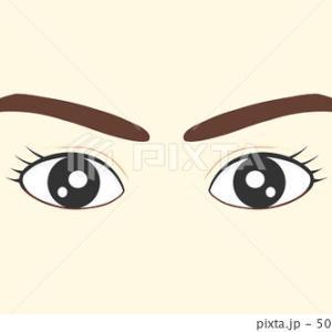 有料イラスト素材「女性の顔(眉と瞳)」×2イラスト