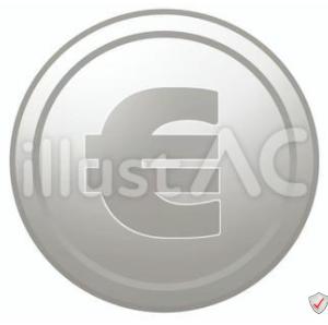 イラスト素材「 ユーロマークのコイン 」