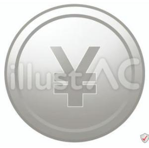 イラスト素材「 ¥マークのコイン」