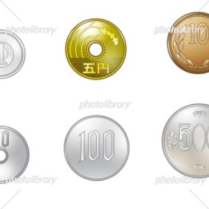 有料イラスト素材「硬貨セット」×3イラスト