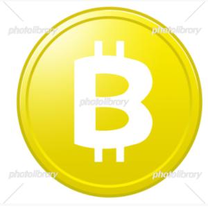 有料イラスト素材「 ビットコイン 1枚 」