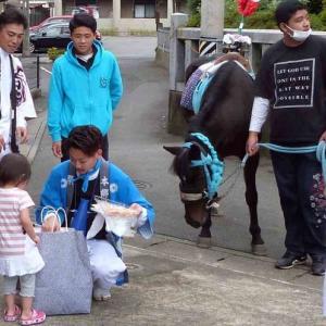 神明神社祭礼 駆け馬!
