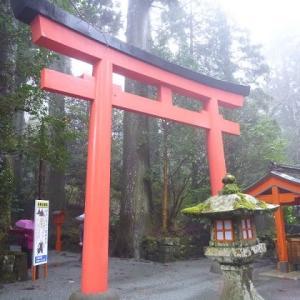 荒天の箱根神社(2016年)