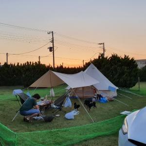 太陽と海 オートキャンプ場で取材♪① (2021/6/9)