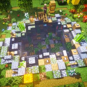 建築!釣り場兼用・オープンウォーターでいい感じの池作り[マインクラフト]