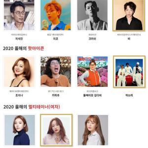 RAIN(ピ)「2020年ブランド大賞」ノミネート