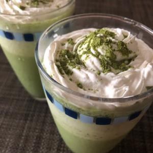 おうちカフェ「アイス抹茶ラテ」