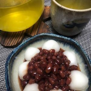 【おうちカフェ】白玉あずきとオーガニック煎茶