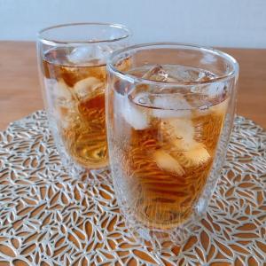 暑い日に和紅茶でアイスティー。