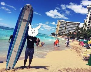 新婚旅行in ハワイ Day2 ワイキキでサーフィン!