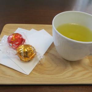 食器を入れ替え、気分一新!デミカップは日本茶用に。