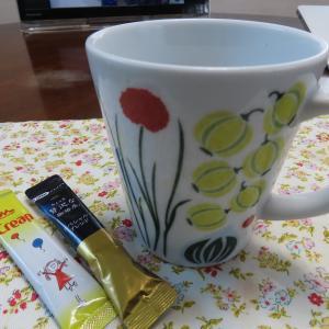 快晴の日曜日。今朝はインスタントのコーヒーで。