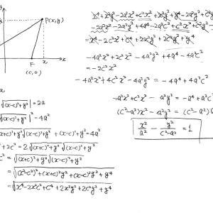 双曲線の式の導出はちとタイヘンだ!