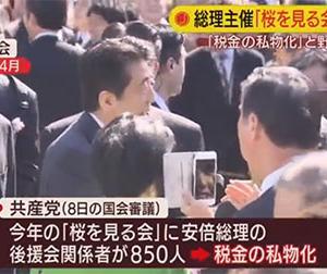 安倍総理主催の桜を見る会!自民党は税金で選挙の票田を作っている!政官癒着!