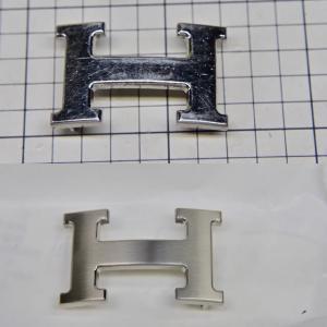 エルメス バックルのメッキ直し(艶消し)と替えベルト製作
