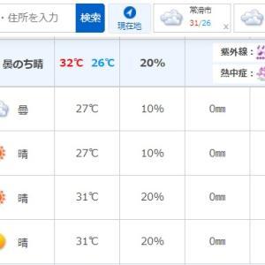 【週中の恒例行事】週末のお天気確認