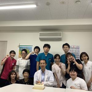 今年もスタッフに誕生日のお祝いをしてもらいました。
