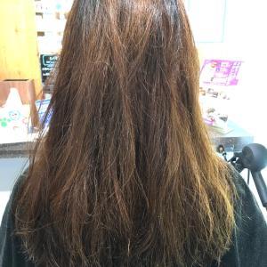 1年間ヘアケアを続けてデジタルパーマにも耐えられる髪に♫
