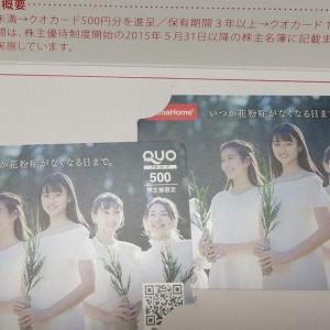 【タマホームからクオカード1,000円分到着(2020/08)】QRコードが追加されました