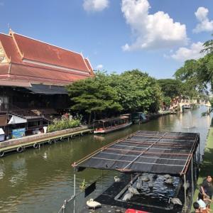 路線バスと運河ボートでクワンリアム水上マーケットへの行き方