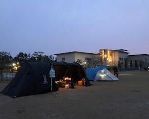 渚園キャンプ【さわやかに苺狩り】