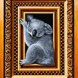 「心地よい眠り」長男(釜匠)の新作0号という規格サイズで最小のキャンバス