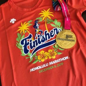 ハワイ通信 2019 ホノルルマラソンまた来たよ~!! 2  遅報 完走致しました。
