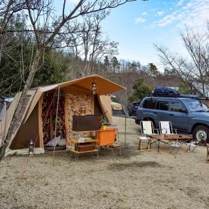 強風の連休は新幕で高規格キャンプ場へ〜大子広域公園グリンヴィラ〜