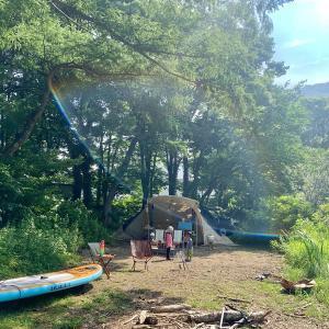 夏休みカヤック&SUPキャンプ③湖をハシゴ!〜小野川湖畔の家キャンプ場〜