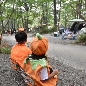 お菓子山盛り!ハロウィンキャンプ②〜赤城山オートキャンプ場〜