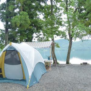 憧れの湖畔キャンプ①景色が良いとごはんがすすむ 〜青木荘キャンプ場〜