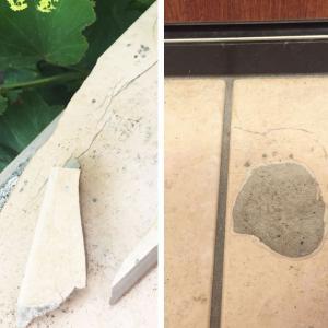 【ぱっくり割れ】玄関タイルの補修法「屋外用セメダインスーパーXG」で簡単接着!