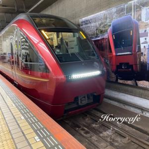 近鉄名阪特急「ひのとり」で名古屋へ…