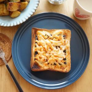朝ごパンにオススメ♪鮭マヨのりチーズトースト-簡単✻時短✻節約✻朝ごはん