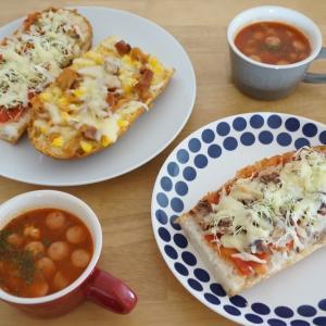 子供と作れる簡単ピザパン#缶詰#サバ缶#トマト缶#焼き鳥缶#1歳
