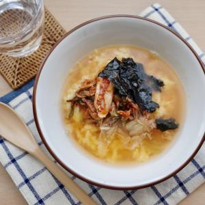 卵かけごはんが奇跡のコラボ!3分で簡単キムチクッパ#韓国料理風#時短#節約#お茶漬け#TKG