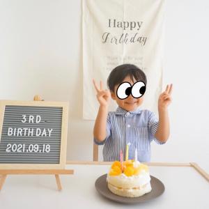 3歳の誕生日おめでとう♡#誕生日ケーキ#アンパンマン#オムライス