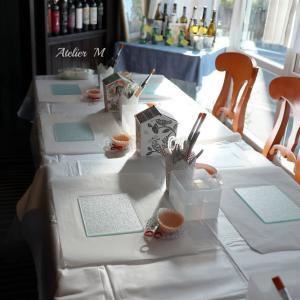 デコパージュとイタリアンランチの会「ガラスのカッティングボード」