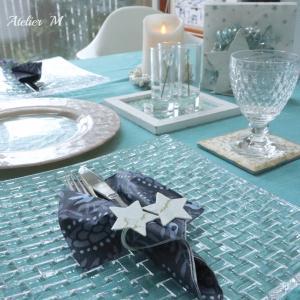 デコパージュ作品で夏のテーブル&13才のバースデー