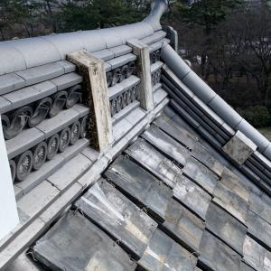 名古屋城 〜西南隅櫓(未申櫓)の菊紋瓦〜