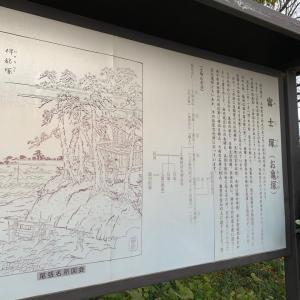 小折城(生駒屋敷) 〜解説板 富士塚(お亀塚)〜