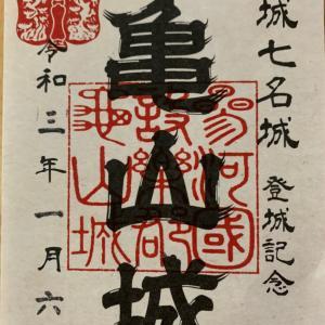 亀山城(三河国)〜御城印 新城七名城 亀山城〜