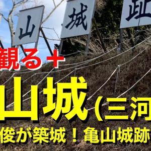 【城を観る+】《亀山城(三河国)》2021 〜奥平貞俊が築城!亀山城跡を観る〜