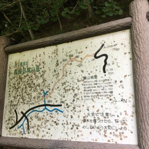 霧山城(多気城)〜解説板 霧山登城の道〜